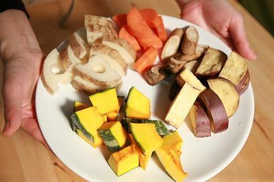 自家製ソイゴマソースの温野菜3