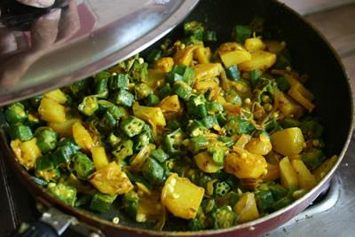 オクラとジャガイモのサブジ&チャパティ 画像10
