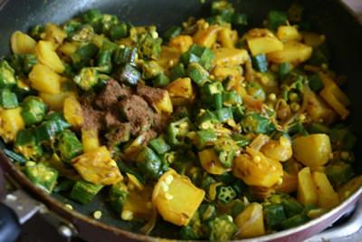 オクラとジャガイモのサブジ&チャパティ 画像11