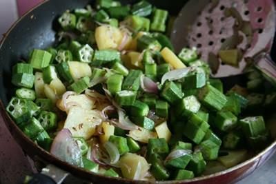 オクラとジャガイモのサブジ&チャパティ 画像8