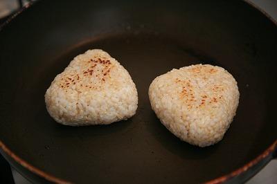 とろりきのこあんかけと外カリッ♪な玄米焼きおにぎりリゾット7