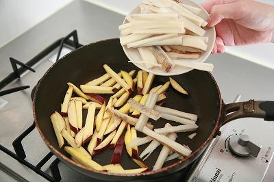 なつかしさとホッとした気持ちにしてくれる根菜のほくほくきんぴら5