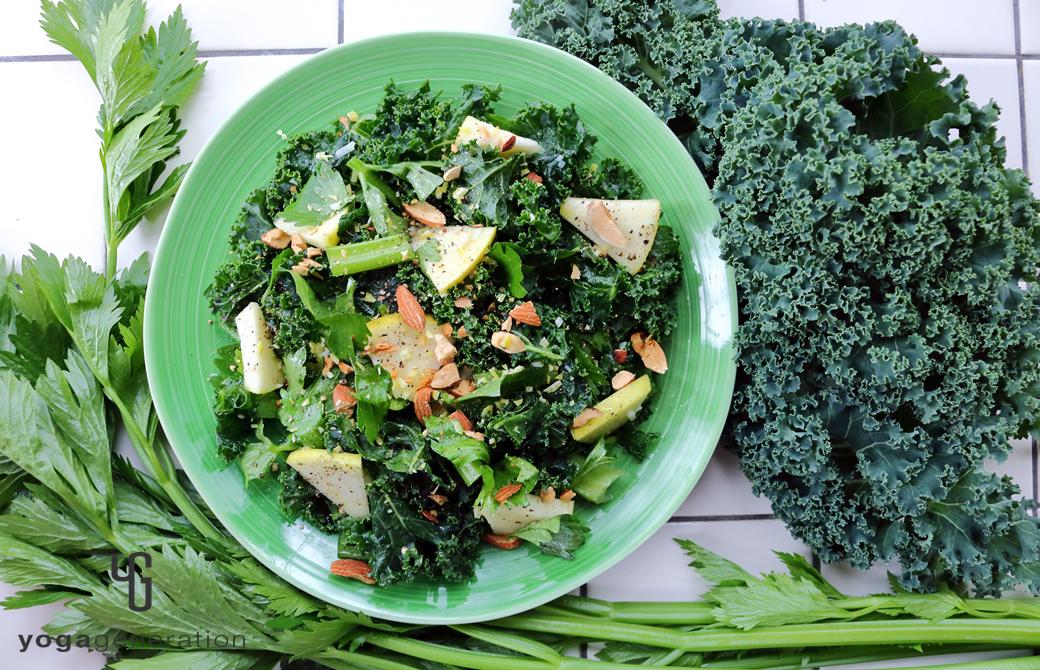 ハートが満ち満ちる緑エネルギーのサラダ